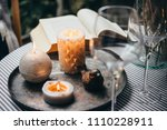 Candles  Wine Glass And Book O...