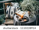 beautiful terrace or balcony... | Shutterstock . vector #1110228914