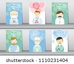set of person desing for happy... | Shutterstock .eps vector #1110231404