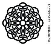round celtic ornament... | Shutterstock .eps vector #1110231701