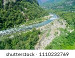 alpine river seen from above....   Shutterstock . vector #1110232769