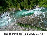 alpine river seen from above....   Shutterstock . vector #1110232775
