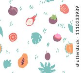 minimal summer trendy vector... | Shutterstock .eps vector #1110233939