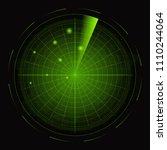 realistic detailed 3d radar... | Shutterstock .eps vector #1110244064