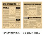 vintage daily newspaper... | Shutterstock .eps vector #1110244067