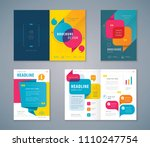 cover book design set  colorful ... | Shutterstock .eps vector #1110247754