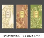 set template for package or... | Shutterstock .eps vector #1110254744