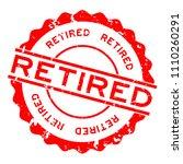 grunge red retired word round... | Shutterstock .eps vector #1110260291