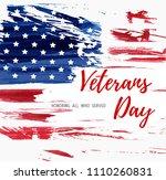 usa veterans day background.... | Shutterstock .eps vector #1110260831