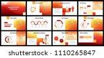 business presentation templates.... | Shutterstock .eps vector #1110265847