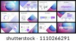 business presentation templates.... | Shutterstock .eps vector #1110266291