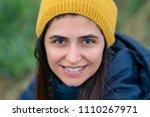 young beautiful brunette woman...   Shutterstock . vector #1110267971
