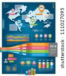 set of infographic elements.... | Shutterstock .eps vector #111027095