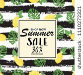 summer sale banner  poster with ... | Shutterstock .eps vector #1110272321
