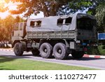 military transport car on the...