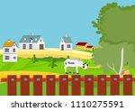 farmland scene vector... | Shutterstock .eps vector #1110275591