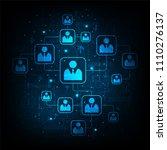 network of communication... | Shutterstock .eps vector #1110276137