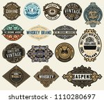 mega pack of labels and banners | Shutterstock .eps vector #1110280697