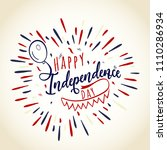 happy independence day.... | Shutterstock .eps vector #1110286934