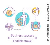 business success concept icon.... | Shutterstock .eps vector #1110289685
