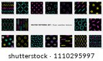 scribble patterns set. doodles... | Shutterstock .eps vector #1110295997