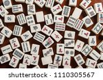 Many Old Mahjong Tiles On...