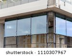 installing large size glass... | Shutterstock . vector #1110307967