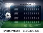 soccer table with background of ... | Shutterstock .eps vector #1110308531