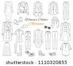 female fashion set. women's... | Shutterstock .eps vector #1110320855