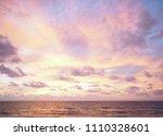 sea sunset  ocean sunrise ... | Shutterstock . vector #1110328601