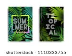summer tropical background... | Shutterstock .eps vector #1110333755