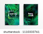 summer tropical background... | Shutterstock .eps vector #1110333761