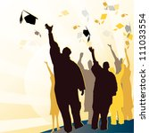 graduation silhouettes... | Shutterstock .eps vector #111033554