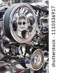 engine of racing car  detail of ... | Shutterstock . vector #1110336917