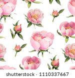 seamless pattern with... | Shutterstock . vector #1110337667