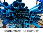 pvc pipes | Shutterstock . vector #111034049