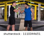 a young men athletes making... | Shutterstock . vector #1110344651