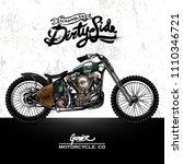 vintage scrambler motorcycle...   Shutterstock .eps vector #1110346721