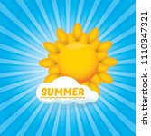 vector summer label with son...   Shutterstock .eps vector #1110347321