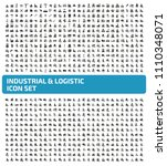 industrial and logistic vector... | Shutterstock .eps vector #1110348071