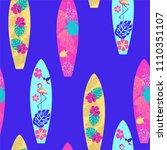 vector background surfboard... | Shutterstock .eps vector #1110351107