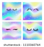 vector cartoon eyelashes set... | Shutterstock .eps vector #1110360764