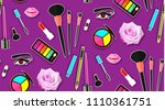 up paper art seamless pattern.... | Shutterstock .eps vector #1110361751