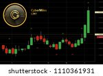 cybermiles cryptocurrency coin... | Shutterstock .eps vector #1110361931