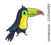 cute toucan on white background....   Shutterstock .eps vector #1110364085