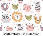 vector seamless pattern  cute... | Shutterstock .eps vector #1110364964
