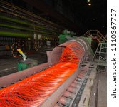 manufacturing wire steel works. ... | Shutterstock . vector #1110367757