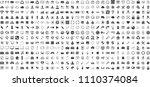 black internet web icons set on ... | Shutterstock .eps vector #1110374084