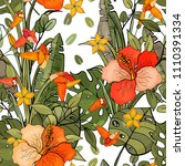 botanical motifs. isolated... | Shutterstock .eps vector #1110391334