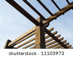 wooden pergola | Shutterstock . vector #11103973